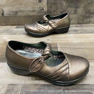 Dansko Bronze Mary Jane Clogs Size 39